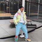 fashionnova rainbow ring puffer jacket tie dye colours multi colourful kylie