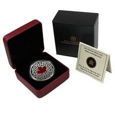 2013 MAPLE LEAF IMPRESSION Red Enamel Silver Coin 20$