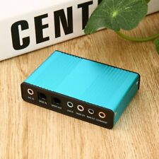 USB 6 Channel 5.1 Audio External Optical Sound Card Adapter For Laptop Skype KW