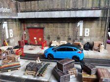 Diorama  Pitbox  Werkstatt Garage 1:43