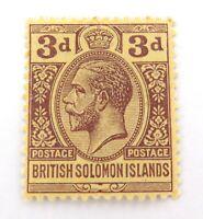 .BRITISH SOLOMON ISLAND KGV 3d MH NICE GRADE STAMP.
