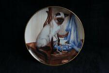 Velvet Touch Siamese Cats Collector Plate Daphne Baxter Franklin Mint Porcelain
