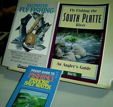 Lot Of 3 Fishing Books Saltwater Fly Fishing Fly Fishing South Platte River