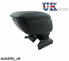 VW CADDY 2003-2015 BLACK LEATHER PADDED ARMREST ARM REST SPECIFIC FIT