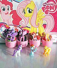 7psc My little pony Mini figures toys shells capsule kinder party favor easter