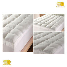Goose Feather Down Mattress Topper Luxury Bed Protector Hotel Quality All Sizes