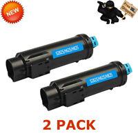 2 PK S2825 2825 Cyan Toner Cartridge For Dell H825 S2825cdn H625 H625cd H825cdw