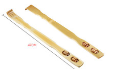 2 pieces Bamboo Wooden Back Scratcher massage rolls Long reach itchy relief