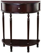 Cherry Storage End Table Hardwood Wood Composite Hall Entryway Night Stand  NEW