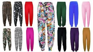 Women's New Harem Trousers Ladies Ali Baba Long Pants Baggy Leggings Plus Sizes
