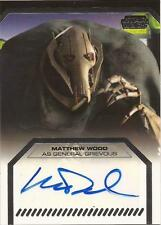 "Star Wars Galactic Files - Matthew Wood ""General Grievous"" Autograph Card"