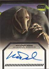 "Star Wars Galactic Files - Matthew Wood ""General Grievous"" Autograph Card"