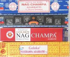 Indische Räucherstäbchen, 4er - Set, Nag Champa,Goloka,Superhit,Golden NagChampa