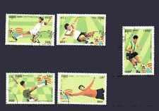 Football Cambodge (39) série complète 5 timbres oblitérés