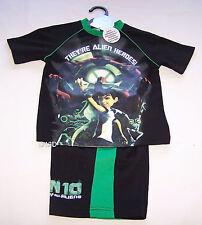 Cartoon Network Ben 10 Alien Boys Black Green Printed Pyjama Set Size 7 New