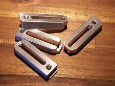 4x CNC Aluminium (3.1645) Spannpratze Spanneisen 15x25x80mm  M8 Fräsmaschine