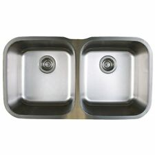 "Blanco 441020 Stellar STAINLESS STEEL 33-1/3"" Equal Double Bowl Kitchen Sink"