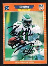 Keith Byars #313 signed autograph auto 1989 Pro Set Football Trading Card