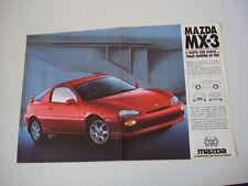 advertising Pubblicità 1992 MAZDA MX-3 MX3