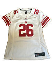 Nike Womans Barkley On Field Jersey NY Giants NFL #26 Sz Small Away Red White