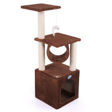 """New listing 36"""" Cat Tree Condo Furniture Toy Kitte Pet House Scratching Coffee With Paw"""