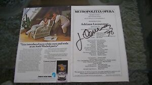 Programme avec signature autographe de José Carreras T9!