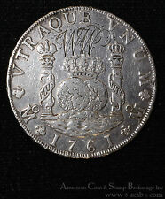 Mexico 8 Reales 1761 MM VF/EF silver KM#105 Obv Monogram WW Scarce Type.