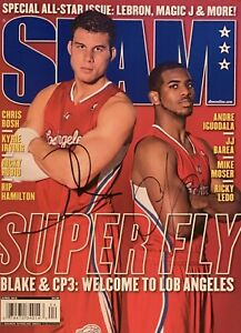 Chris Paul & Blake Griffin Dual Signed SLAM Magazine 2012 No Label Auto Clippers