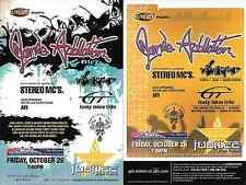 Jane's Addiction Stereo MC'S  Concert Handbill Mini Poster 2001 California