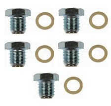 For Ford F750 F650 F59 Set of 5 Oil Drain Plugs Magnetic M14-1.25 Head Size 19mm