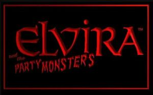 Elvira and the Party Monsters Pinball Game Backglass LED Sign Light Topper