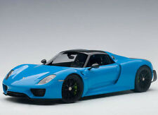 Autoart Porsche 918 Spyder Weissach Package 1:18 Model Car 77924 Riviera Blue