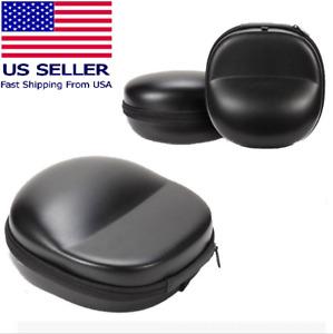 BLACK Carrying Hard Case for Over-Ear Full size Headphones Headset US Seller NEW