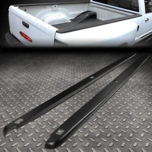FOR 02-09 DODGE RAM 8FT FLEETSIDE PAIR TRUCK BED SIDE RAIL MOLDING CAPS W/HOLES