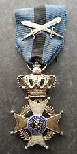 Belgium: WW1 Original Knigh tin the order of Leopold II Military medal pre 1952