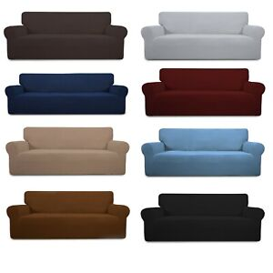 PREMIUM Elastic STRETCH SOFA COVERS Slipcover Protector Settee 1/2/3/4 Seater