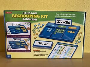 Lakeshore Hands-On Addition Regrouping Kit Grades 2-3 Educational Home School