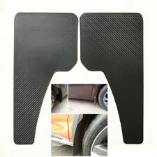2PCS Black ABS Mudflaps Car Moulding Trim Mud Guards Carbon Fiber Style 43x21CM