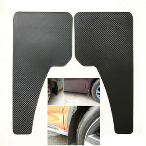 2PCS Black ABS Mudflaps Car Moulding Trim Mud Guards Carbon Fiber Style 43x21CM