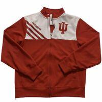 Men's Adidas Originals Jacket Red White Indiana Hoosiers Full Zip Sz Small EUC