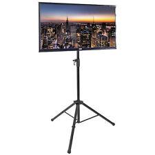 "Used VIVO Black Tripod TV Display Floor Stand Adjustable Mount for 32-55""Screens"