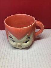 Vintage Plastic Flintstones Pebbles Mug Vitamins Cup Hanna Barbera