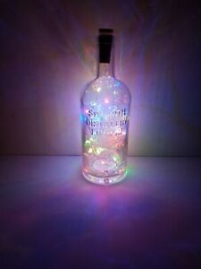 Sipsmith Gin Bottle Lamp Multi Colour LED Lights Gift Decoration