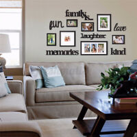 135x79CM Family Home Acrylic Photo Picture Frame Hanging Wall Collage Decor  ~
