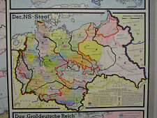 Schulwandkarte Wandkarte Europa NS-Staat Großdeutsche Reich 1918-45 209x132 1964