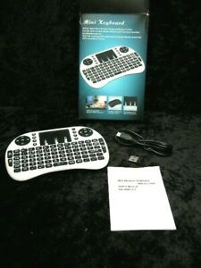 MWK08 Mini Wireless Keyboard with touchpad for Games, TV Box White/Black 2.4GHz