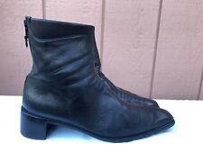 STUART WEITZMAN Black Soft Leather Back Zip Ankle Boots US 10 AA Womens Spain