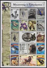 BLOC MONGOLIE N°2471/2487** BF Origine Espèces Darwin, 2000 MONGOLIA Sheet MNH