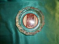 Werbung Tabak Holländer Shag goldbraun half alter Aschenbecher Glas Ascher