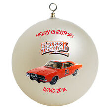 Personalized Dukes of Hazzard Christmas Ornament Gift